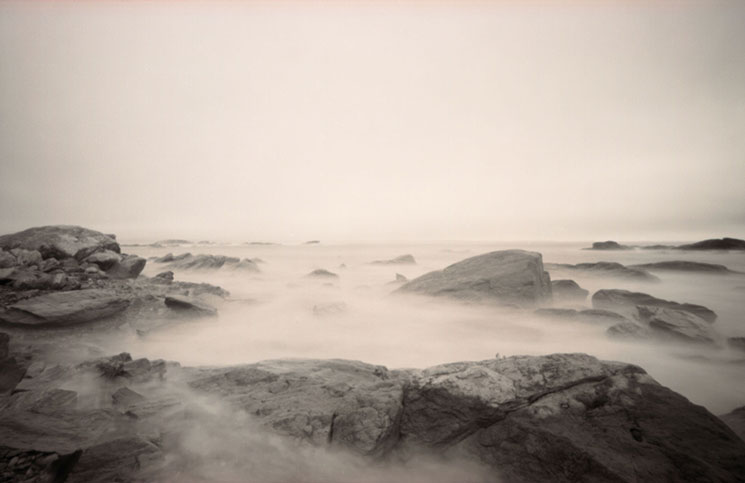 """""""Ocean, SachuestPoint"""" by Susan Lirakis is on display at Camera Commons in Dover."""