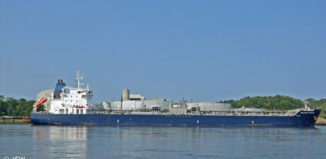 The ship Palanca Muscat arrives at the Port of New Hampshire on Sunday.