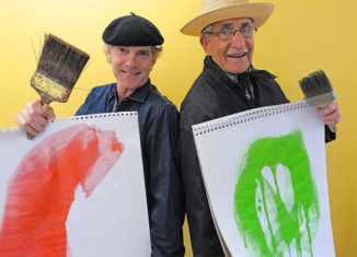 Seacoast artists Bill Paarlberg (left) and Ken Fellows have an upcoming show at the Kittery Art Association in Maine.