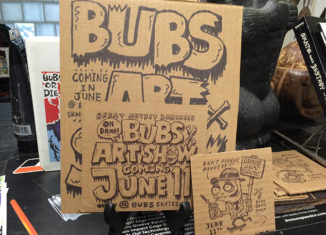 Bubs Skateboard Shop in Newmarket, NH, is hosting an art show on June 11.