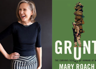 "Author Mary Roach presents her new book, ""Grunt,"" at The Music Hall in Portsmouth, NH, on June 30."
