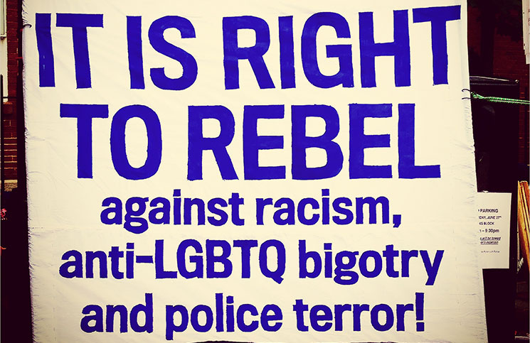 Part of a sign displayed during last year's Portsmouth Pride event.