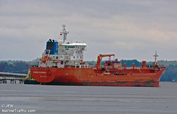 Oil/chemical tanker Chem Norma is set to arrive in the Port of New Hampshire on July 27.