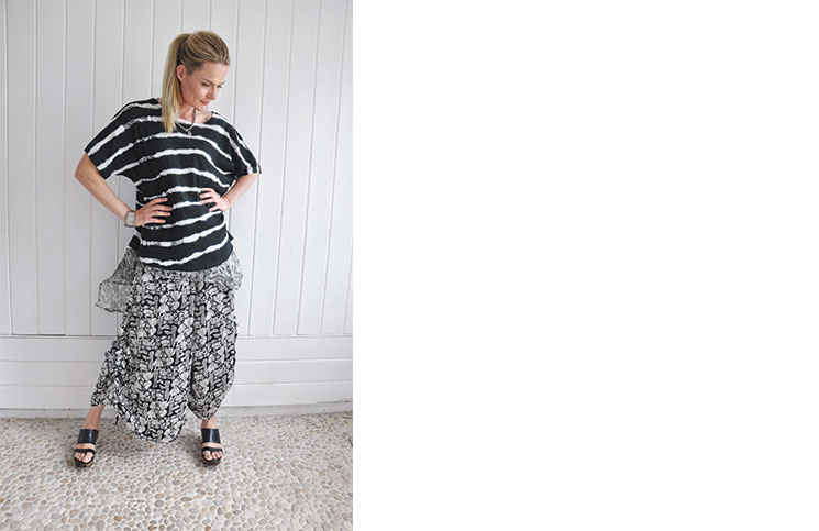 Krista Larson Designs, based in Brentwood, makes flattering, comfortable clothing that fits a variety of sizes.
