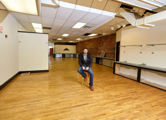 Birdseye Lounge cofounder Michael Behrmann sits in the space before it opened last year.
