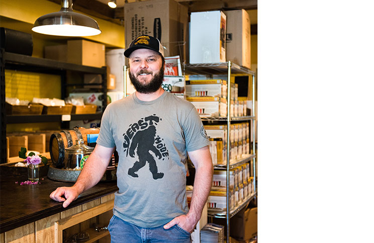 Alex McDonald, co-owner of A&G Homebrew Supply and Earth Eagle Brewings