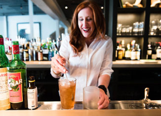 Megan McNeil of Louie's prepares an Inside Job