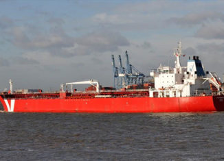 The tanker Iver Prosperity arrives in port this afternoon.