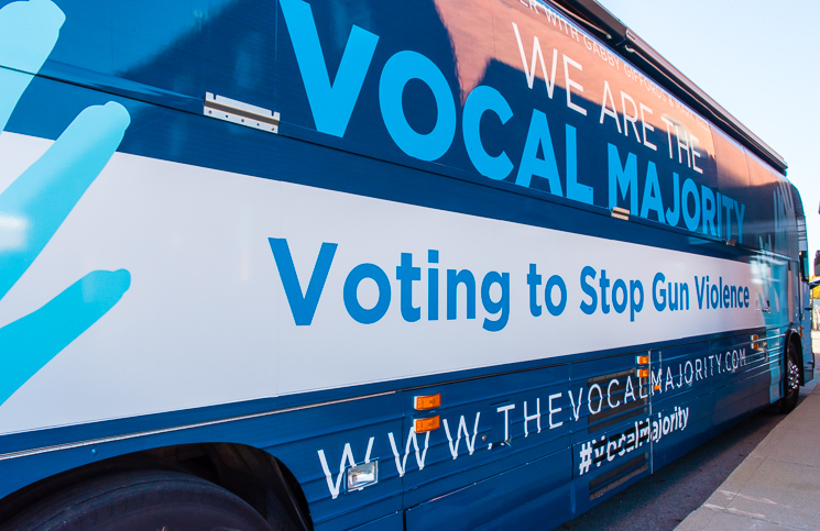 Vocal Majority Tour bus
