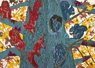 """Red Squirrels, Blue Squirrels"" by Susan Jaworski-Stranc"