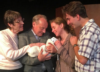 """Carol Davenport, Roland Goodbody, Catherine Colby, and Tomer Oz star n ACT ONE's production of Kiss the Moon, Kiss the Sun."""""""