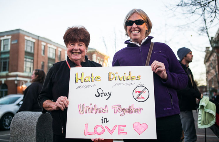 Patricia Gagnon of Danvers, Mass., and Jan Stephens of Exeter